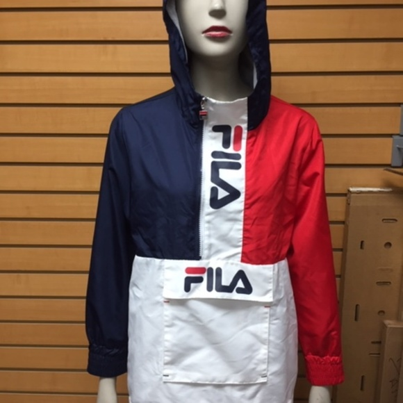 FILA Boys White, Red & Navy Windbreaker Jacket 130